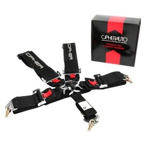 Cipher Auto Cpa4005bk 5 point Camlock Racing Harness Black