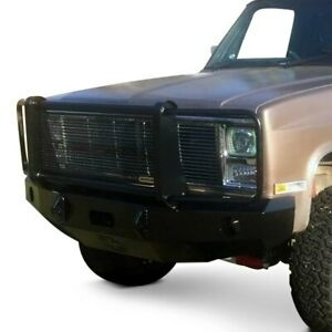 For Chevy R10 87 Bumper Heavy Duty Series Full Width Textured Black Front Winch
