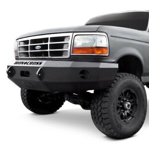 For Ford F 150 92 96 Bumper Heavy Duty Series Full Width Textured Black Front
