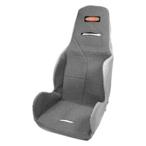 17 5 16 Series Economy 20 Degree Layback Drag Racing Seat Cover Cloth Gray