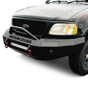 For Ford F 150 97 03 Bumper Heavy Duty Series Full Width Textured Black Front