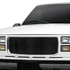 For Gmc Yukon 1994 1999 Apg 1 Pc Black Horizontal Billet Main Grille