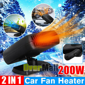 Portable Car Heater Cooling Fan Car Defroster 30 Seconds Fast Heating 12v 200w