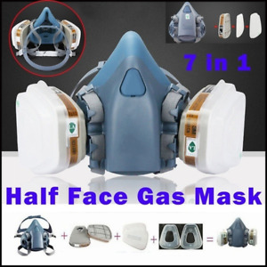7in1 7502 Half Face Gas Mask Facepiece Spray Painting Respirator Safety Protect