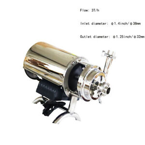 1 Pc 110v Food Grade Sanitary Centrifugal Pump 3t h For Milk Beverage Conveying