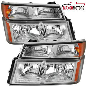 For 2004 2012 Chevy Colorado Gmc Canyon Headlights corner Turn Signal Lamps Pair