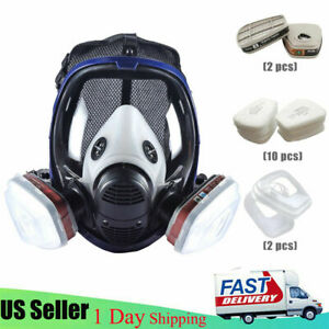 Us Respirator Gas Mask Full Face Painting Spray Facepiece Safety Mask For 6800