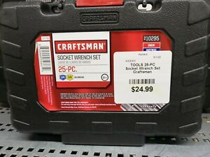 Craftsman Tools 25 Pc Piece 3 8 1 4 Socket Wrench Set New