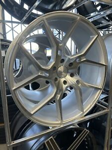 24x10 Gianelle 6x139 7 Silver Machined Wheel Tire Package Dismounted