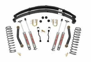 Rough Country 4 5 Suspension Lift Kit Jeep Cherokee Xj 4wd 633n2