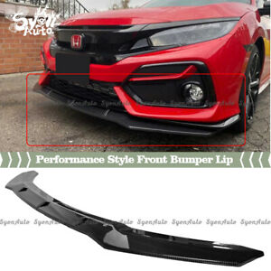 Fits 16 2021 Honda Civic Hatchback Carbon Fiber Look Performance Style Front Lip