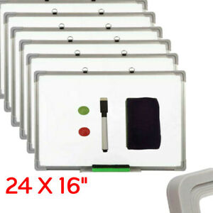 24 X 16 Magnetic Whiteboard Dry Erase White Board Wall Hanging Board W Eraser