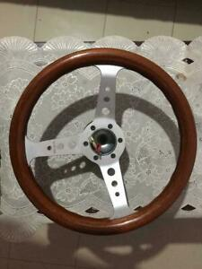 rare Sport Line Vintage Mahogany Steering Wheel With Bose Kit Made In Italy