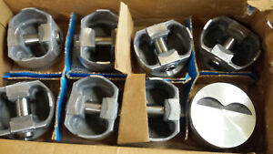 400 Chevy Forged Pistons 5 7 Rod Flat Tops L2489f 030 Over