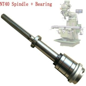 Bridgeport Mill Part Milling Machine Nt40 Spindle Bearings Assembly