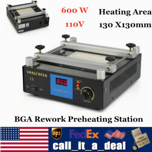 853a Infrared Bga Rework Preheating Station Soldering 600w 130 X130mm Hot Plate