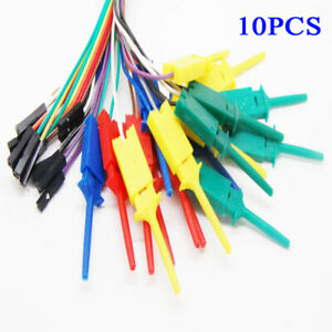 Mini Grabbers Probe For Logic Analyser Electrical 10x 28cm Test Clips Hooks Use
