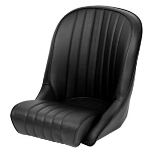 Roadster Xl Black Leather Facings black Vinyl Back black Piping Race Seat