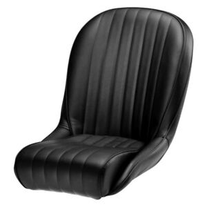Roadster Ss Black Leather Facings black Vinyl Back black Piping Race Seat