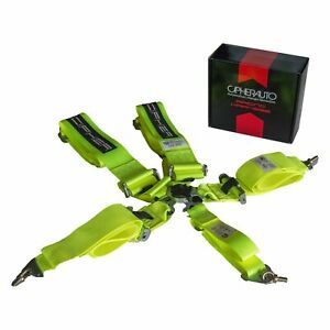Cipher Auto Cpa4005ny 5 point Camlock Racing Harness Neon Yellow