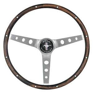 Grant 3 Spoke Classic Nostalgia Mustang Style Walnut Hardwood Steering Wheel