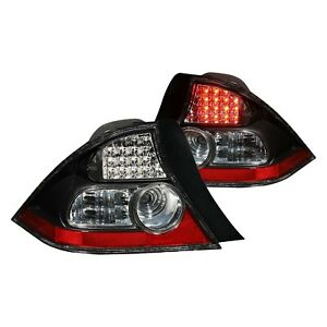 For Honda Civic 2004 2005 Anzo Black Red Led Tail Lights