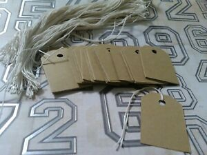 200 Rustic Brown Card Stock Retail Price Tags Gift Bag Tags String Unstrung