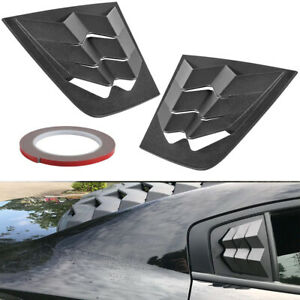 Car Side Window Louvers Air Vent Scoop Cover Blinds For Dodge Charger 2011 2020