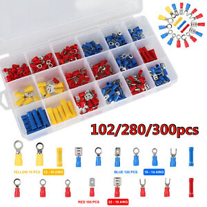 300 280x Assorted Crimp Spade Terminal Insulated Electrical Wire Connector Kit