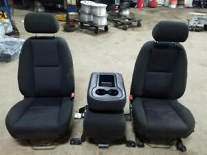 All 3 Front Seats Bucket And Bench Gray Cloth Fits 11 Sierra 1500 Trim Code 88i