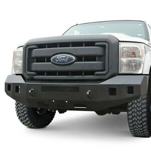 For Ford F 250 Super Duty 11 16 Fortis Full Width Textured Black Front Hd Bumper