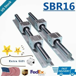 Sbr16 Linear Rail Guide 300mm 1500mm Slide Shaft Rod 5x Sbr16uu Bearing Block