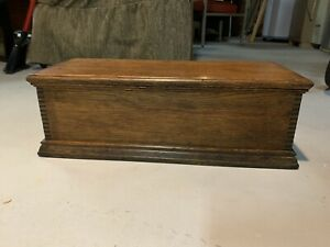Small Antique Dovetailed Wooden Chest Vintage