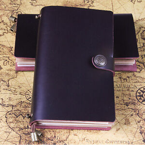 Cowhide Leather Cover Vintage Note Book Diary Journal Travel Notepad Love Gift