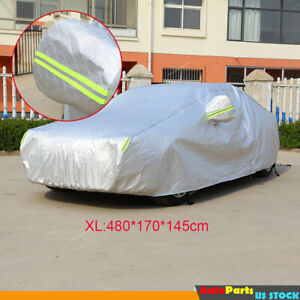 Full Car Cover Aluminized Waterproof Sun Rain Dust Snow Resistant Fit For Toyota