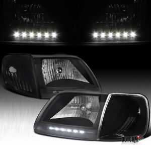 For Ford 1997 2003 F150 1997 2002 Expedition Led Head Lights W Corner Lamps 4pc