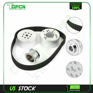 For Chevy Drive Pulley Kit Short Water Pump Pulleys 327 350 383 Small Block