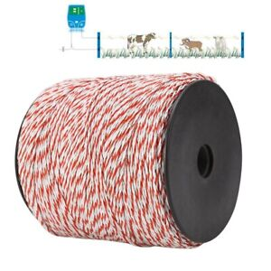 500m Roll Polywire Electric Fence Energiser Stainless Steel Poly Ropes Insulator
