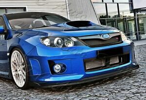 For 11 14 Subaru Wrx Sti Cs2 style Carbon Look Front Bumper Splitter Spoiler Lip