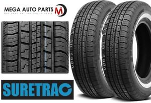 2 New Suretrac Power Touring W W White Side Wall 155 80r13 79s All Season Tires