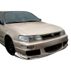 For Toyota Corolla 93 97 Bomber Style Fiberglass Front Bumper Cover Unpainted