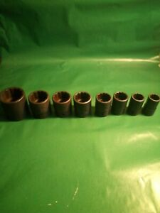Snap On Industrial Finish Sb Sockets 1 2 Drive Short 12 Point Eight Total