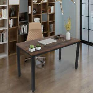 Wood Computer Desk Pc Laptop Writing Table Workstation Home Office Furniture