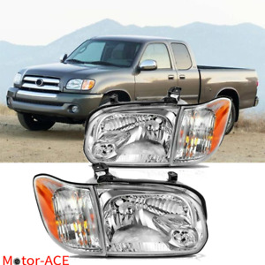 Headlights Fit For 2005 2006 Toyota Tundra Double Crew Cab 2005 2007 Sequoia Set