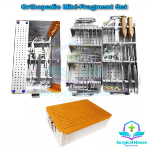 Mini Fragment System set Orthopedic Veterinary Surgery Instruments With Box