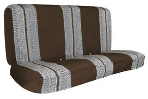 Brown Pickup Bench Saddle Blanket Universal Car Seat Covers For Full Size Truck