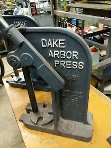 Dake Corporation Arbor Press 1 1 2b1 3 Ton Capacity