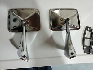 Vintage Chevrolet Truck Mirrors Chrome Stainless