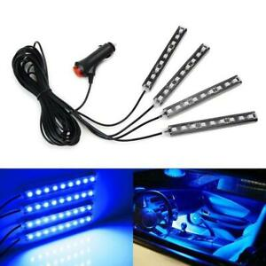 Blue Led Car Interior Accessories Floor Decorative Atmosphere Strip Lamp Lights