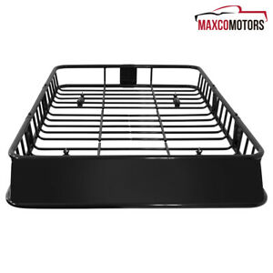 Universal Car 64 Black Steel Extension Roof Rack Top Luggage Carrier Basket